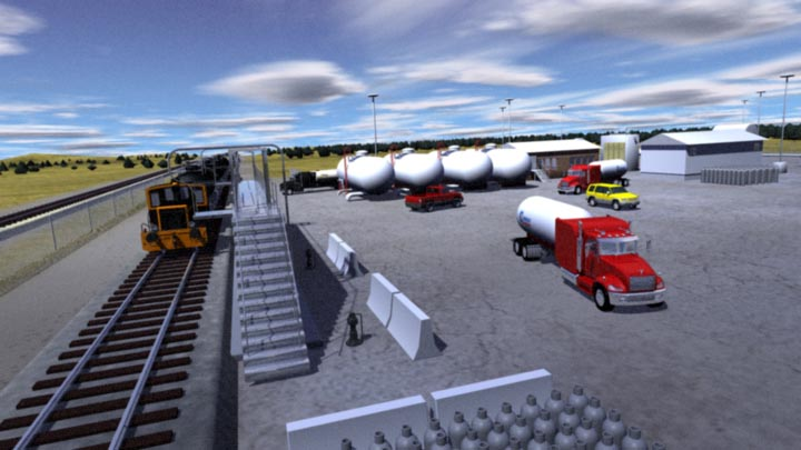 Gibsons – Rail Depot Delivery Scene